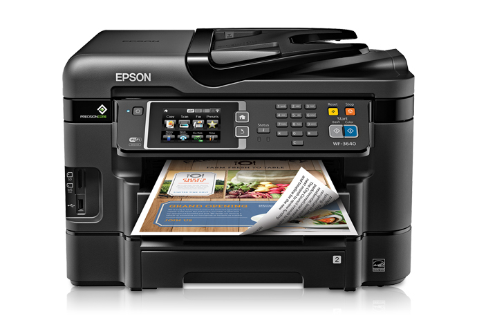 EPSON wf3640 front view
